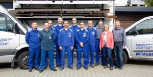 Das komplette Team von Metallbau Pohlers