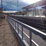 Bahnsteiggeländer feuerverzinkt und farbbeschichtet am Bahnhof in Roth
