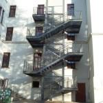 Fluchttreppe an der Schule in Hainichen
