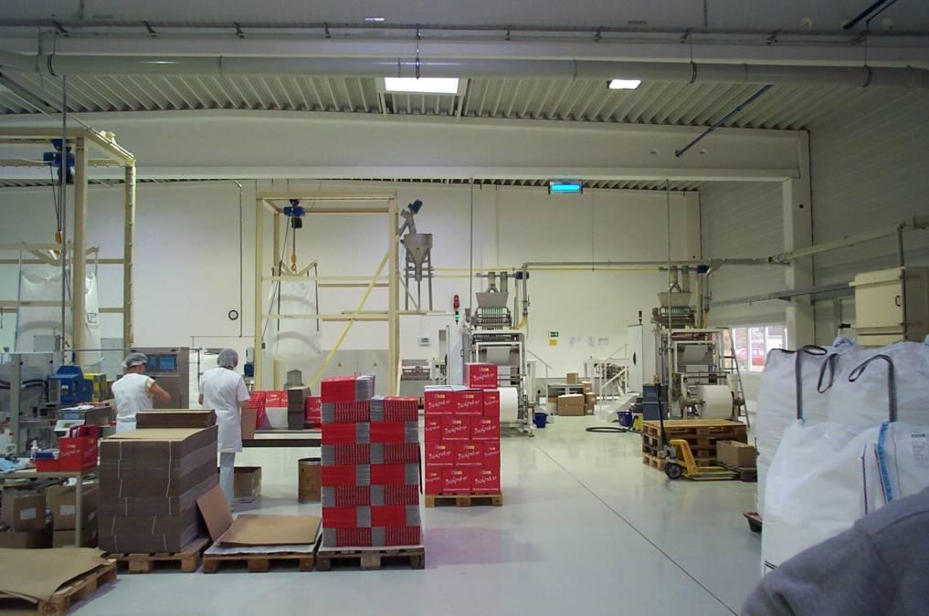 Arbeitsbühnen mit Treppen und Kranträger für Verpackungsmaschinen
