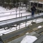 Geschweißter Kastenträger mit eingeschweißten Schotts für Fassadenbegrünung